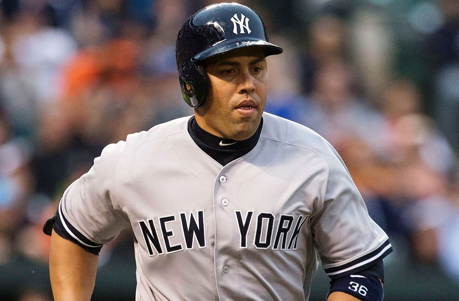 Carlos Beltran has been traded by the New York Yankees to the Texas Rangers for Dillon Tate.