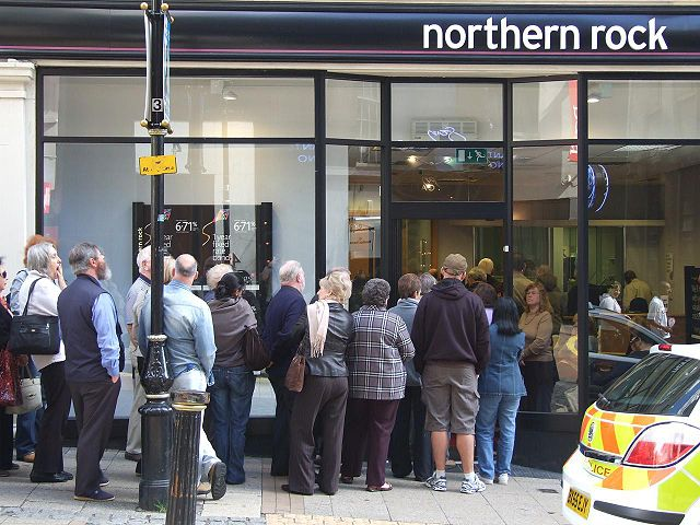 Bank Run Northern Rock America