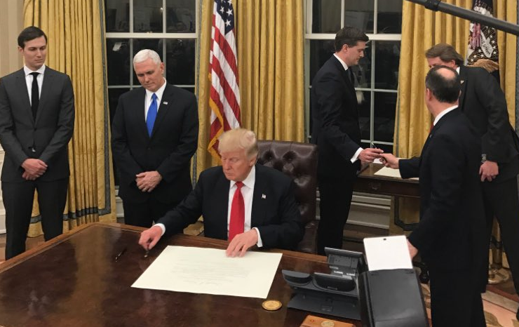 Early Trump Executive Orders - Change NAFTA, Leave TPP