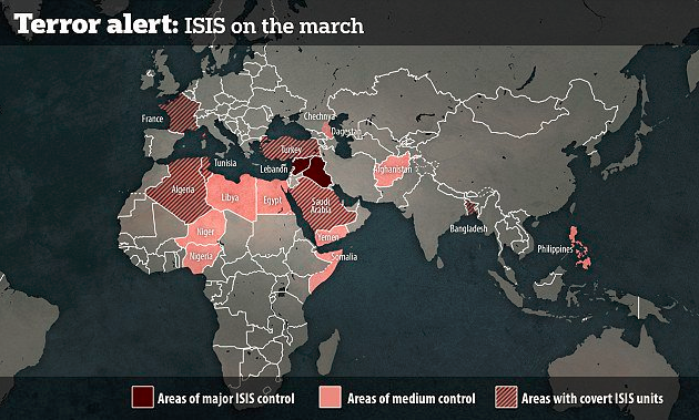Map of ISIS control