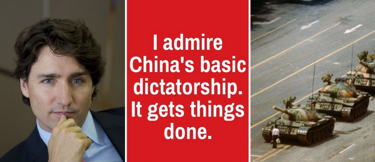Trudeau Admires China's Basic Dictatorship