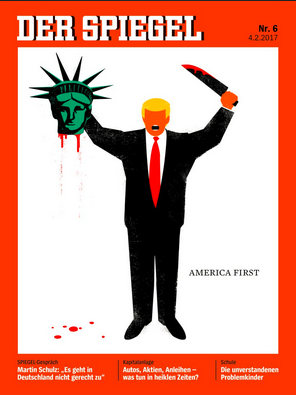 Controversial: Der Spiegel Trump Cover Depicts Trump Beheading Statue Of Liberty