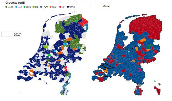 Dutch Elections - Results Map - Geert Wilders PVV