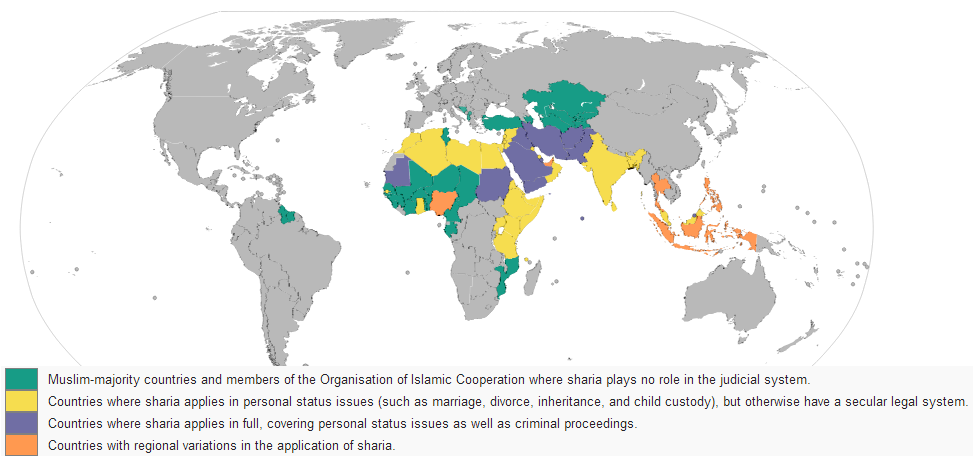 Sharia Law World Map