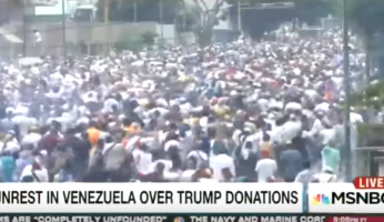 Fake News MSNBC Blames Trump Donations for Venezuela Protests