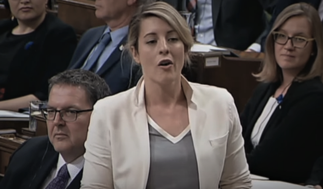 Melanie Joly Lies In House Of Commons