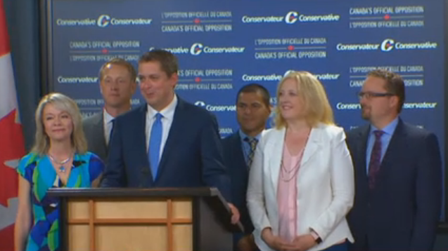 Andrew Scheer Unveils Leadership Team