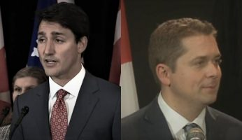Trudeau Liberals Lead Scheer Conservatives 42% to 35%