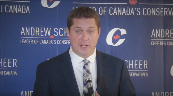 Scheer Promises Low Taxes & Prosperity, Attacks Trudeau For Hurting Middle-Class Canadians