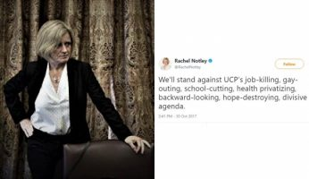 Alberta Premier Tweets Extreme Rhetoric Towards United Conservative Party