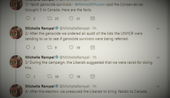 "In Tweets, Rempel Shreds ""Disgusting"" Trudeau Liberals Deceptive Claims About Yazidi Refugees"