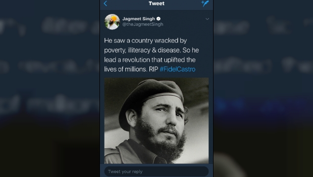 Jagmeet Singh Criticized For Disturbing Pro-Fidel Castro Tweet