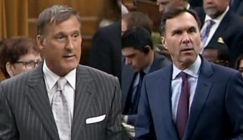 Maxime Bernier Vs Moneybags Morneau On Tax Hikes