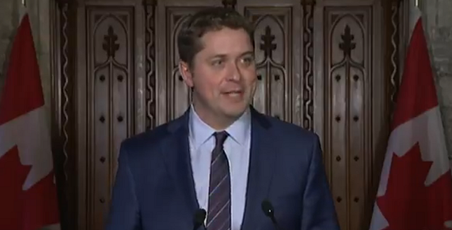 Scheer Says Trudeau Bringing Back Conservative Tax Cut To Manage Crisis