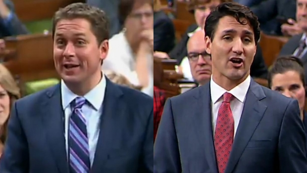 Scheer Vs. Trudeau On Bombardier & Morneau-Shepell