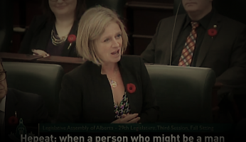 A Day After Complaints About Mansplaining, Notley Brings Up Hepeating