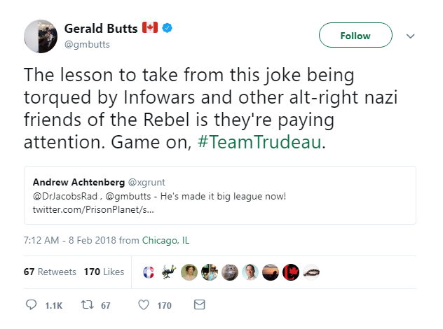 Gerald Butts Tweet