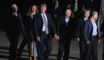 Trump North Korea Hostages Welcomed