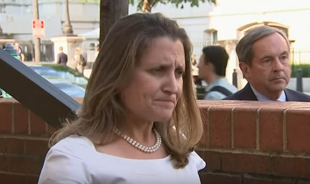 Chrystia Freeland Nervous NAFTA