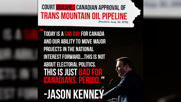 Jason Kenney Trans Mountain Pipeline