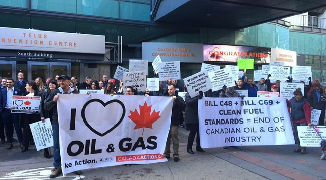 Canadian Oil Protest