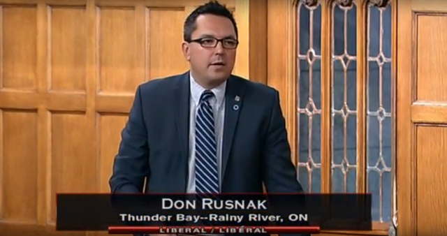 Don Rusnak Liberal MP