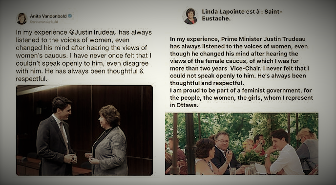 Liberal MPs copying messages