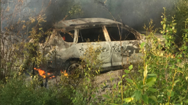 Suspects Burning Vehicle Gillam Manitoba
