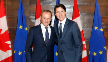 Trudeau Tusk European Union Elites