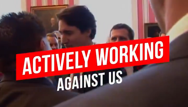 Trudeau Working Against Canada