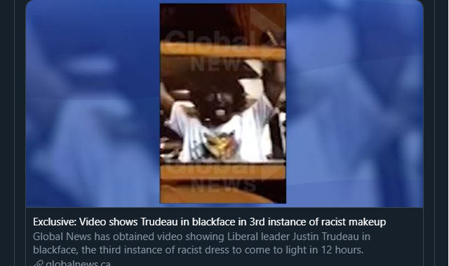 Trudeau Blackface Photo Again
