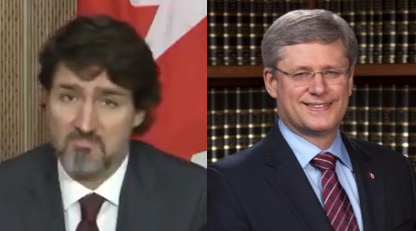 Despite Being In Power For 5 Years, Trudeau Just Blamed Harper For Canada's Pandemic Failures