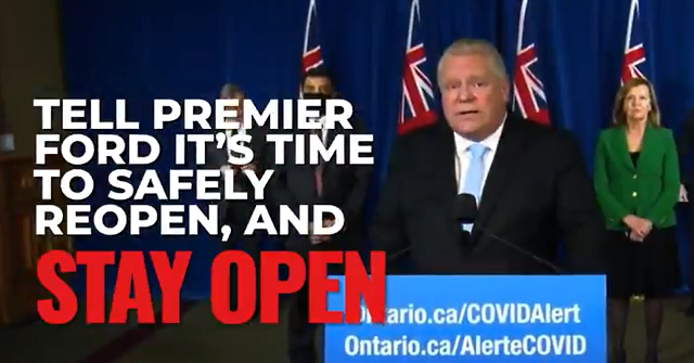 National Citizens Coalition Doug Ford Reopen Ontario