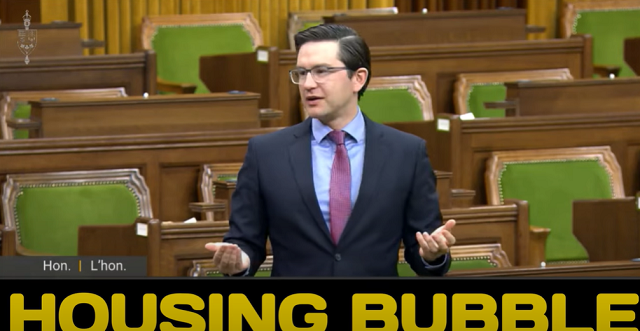 Pierre Poilievre Warning Housing Bubble