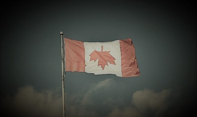 Canada upside down flag